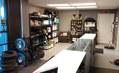 Tulsa Cleaning Systems showroom