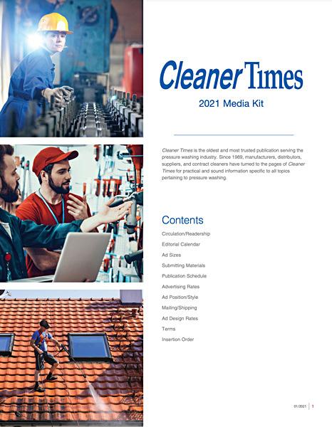 2021 Cleaner Times media kit
